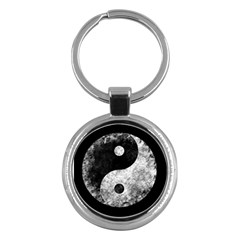 Grunge Yin Yang Key Chains (round)