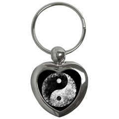 Grunge Yin Yang Key Chains (heart)