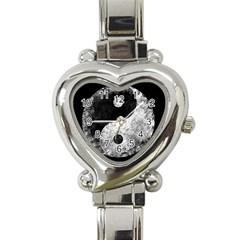 Grunge Yin Yang Heart Italian Charm Watch