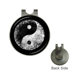 Grunge Yin Yang Hat Clips With Golf Markers