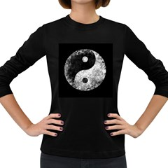 Grunge Yin Yang Women s Long Sleeve Dark T Shirts