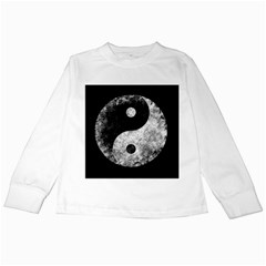 Grunge Yin Yang Kids Long Sleeve T Shirts