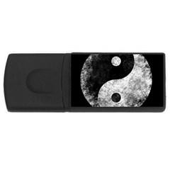 Grunge Yin Yang Rectangular Usb Flash Drive