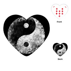 Grunge Yin Yang Playing Cards (heart)