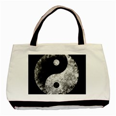 Grunge Yin Yang Basic Tote Bag
