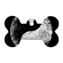 Grunge Yin Yang Dog Tag Bone (one Side)