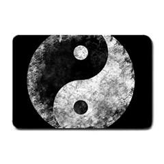 Grunge Yin Yang Small Doormat