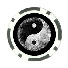 Grunge Yin Yang Poker Chip Card Guard