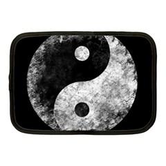 Grunge Yin Yang Netbook Case (medium)