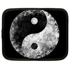 Grunge Yin Yang Netbook Case (large)
