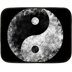Grunge Yin Yang Double Sided Fleece Blanket (mini)
