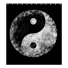 Grunge Yin Yang Shower Curtain 66  X 72  (large)
