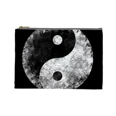 Grunge Yin Yang Cosmetic Bag (large)