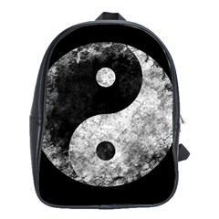 Grunge Yin Yang School Bag (large)
