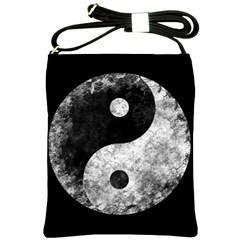 Grunge Yin Yang Shoulder Sling Bags