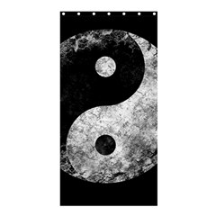 Grunge Yin Yang Shower Curtain 36  X 72  (stall)