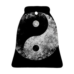 Grunge Yin Yang Bell Ornament (two Sides)