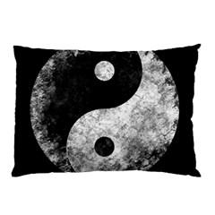 Grunge Yin Yang Pillow Case (two Sides)