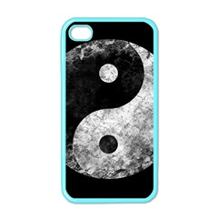 Grunge Yin Yang Apple Iphone 4 Case (color)