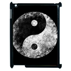 Grunge Yin Yang Apple Ipad 2 Case (black)