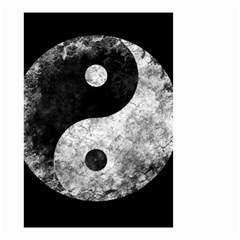 Grunge Yin Yang Small Garden Flag (two Sides)