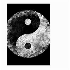 Grunge Yin Yang Large Garden Flag (two Sides)