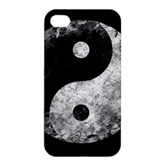 Grunge Yin Yang Apple Iphone 4/4s Premium Hardshell Case