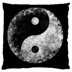 Grunge Yin Yang Large Cushion Case (one Side)