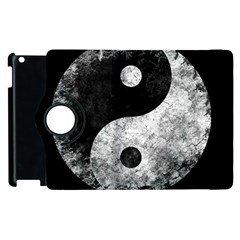 Grunge Yin Yang Apple Ipad 2 Flip 360 Case