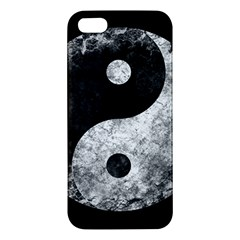 Grunge Yin Yang Apple Iphone 5 Premium Hardshell Case