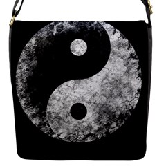 Grunge Yin Yang Flap Messenger Bag (s)