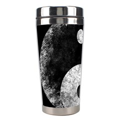 Grunge Yin Yang Stainless Steel Travel Tumblers