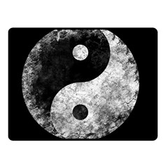 Grunge Yin Yang Double Sided Fleece Blanket (small)