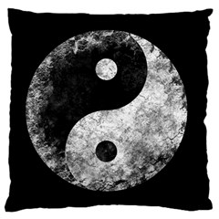 Grunge Yin Yang Large Flano Cushion Case (one Side)