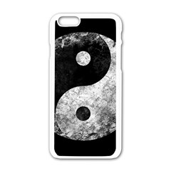 Grunge Yin Yang Apple Iphone 6/6s White Enamel Case
