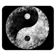 Grunge Yin Yang Double Sided Flano Blanket (small)