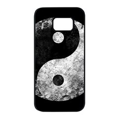 Grunge Yin Yang Samsung Galaxy S7 Edge Black Seamless Case