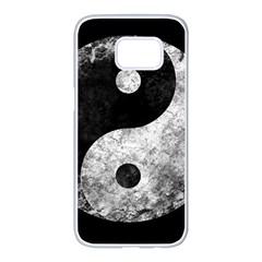Grunge Yin Yang Samsung Galaxy S7 Edge White Seamless Case