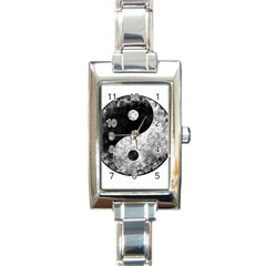 Grunge Yin Yang Rectangle Italian Charm Watch