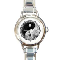 Grunge Yin Yang Round Italian Charm Watch