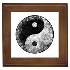 Grunge Yin Yang Framed Tiles