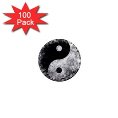 Grunge Yin Yang 1  Mini Magnets (100 Pack)