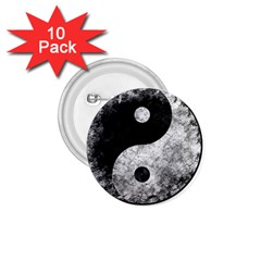 Grunge Yin Yang 1 75  Buttons (10 Pack)