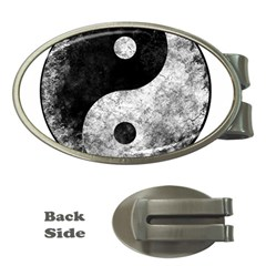 Grunge Yin Yang Money Clips (oval)