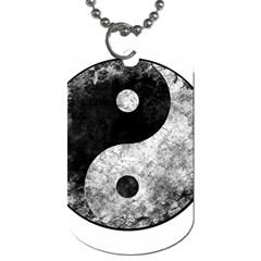 Grunge Yin Yang Dog Tag (two Sides)