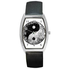 Grunge Yin Yang Barrel Style Metal Watch
