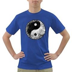 Grunge Yin Yang Dark T Shirt