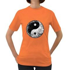 Grunge Yin Yang Women s Dark T Shirt