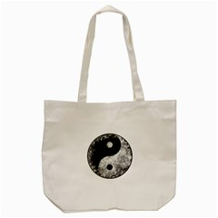 Grunge Yin Yang Tote Bag (cream)