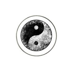 Grunge Yin Yang Hat Clip Ball Marker